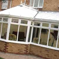 P Shaped Conservatories White